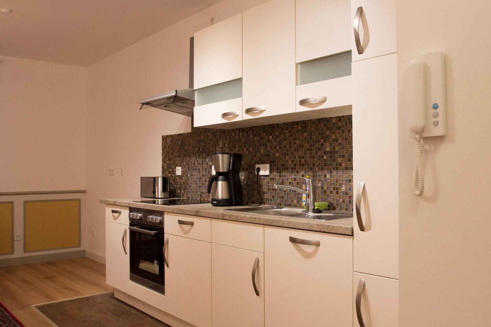 Ferienwohnung Ratssaal - Küchenzeile