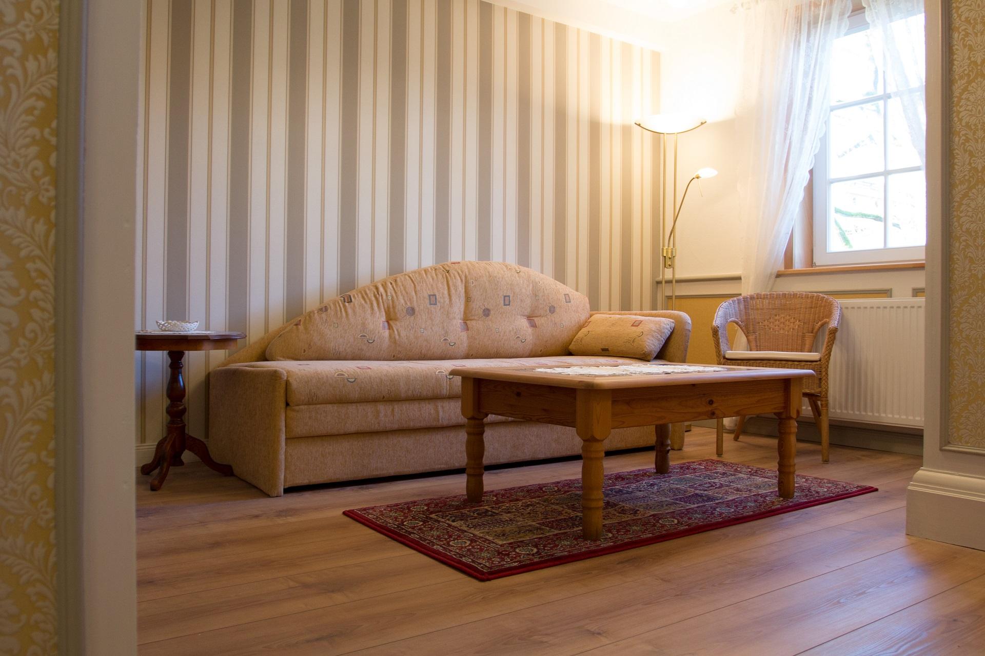 Ferienwohnung Ratssaal - Wohnbereich