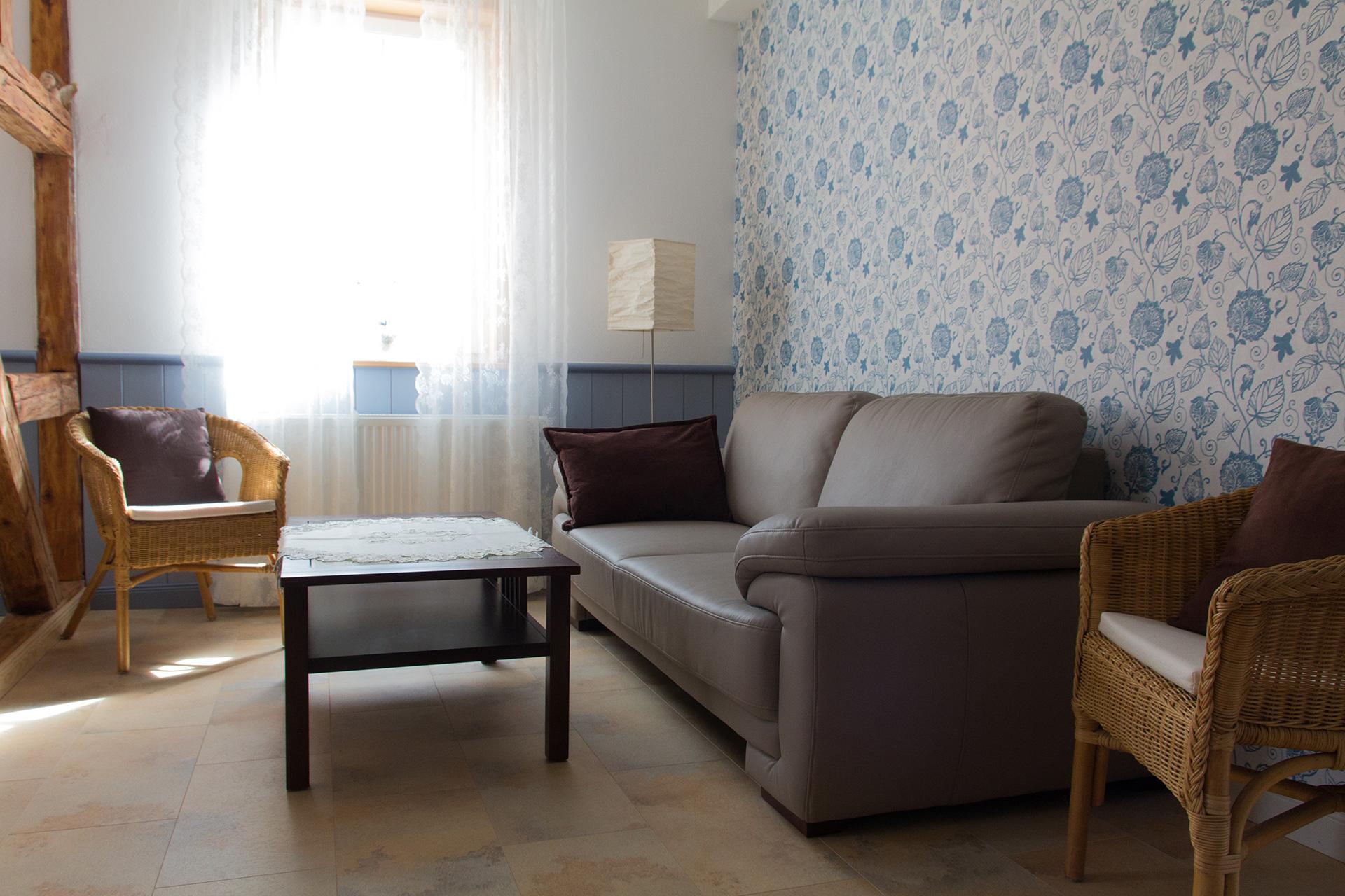 Ferienwohnung Amtsstube - Wohnbereich