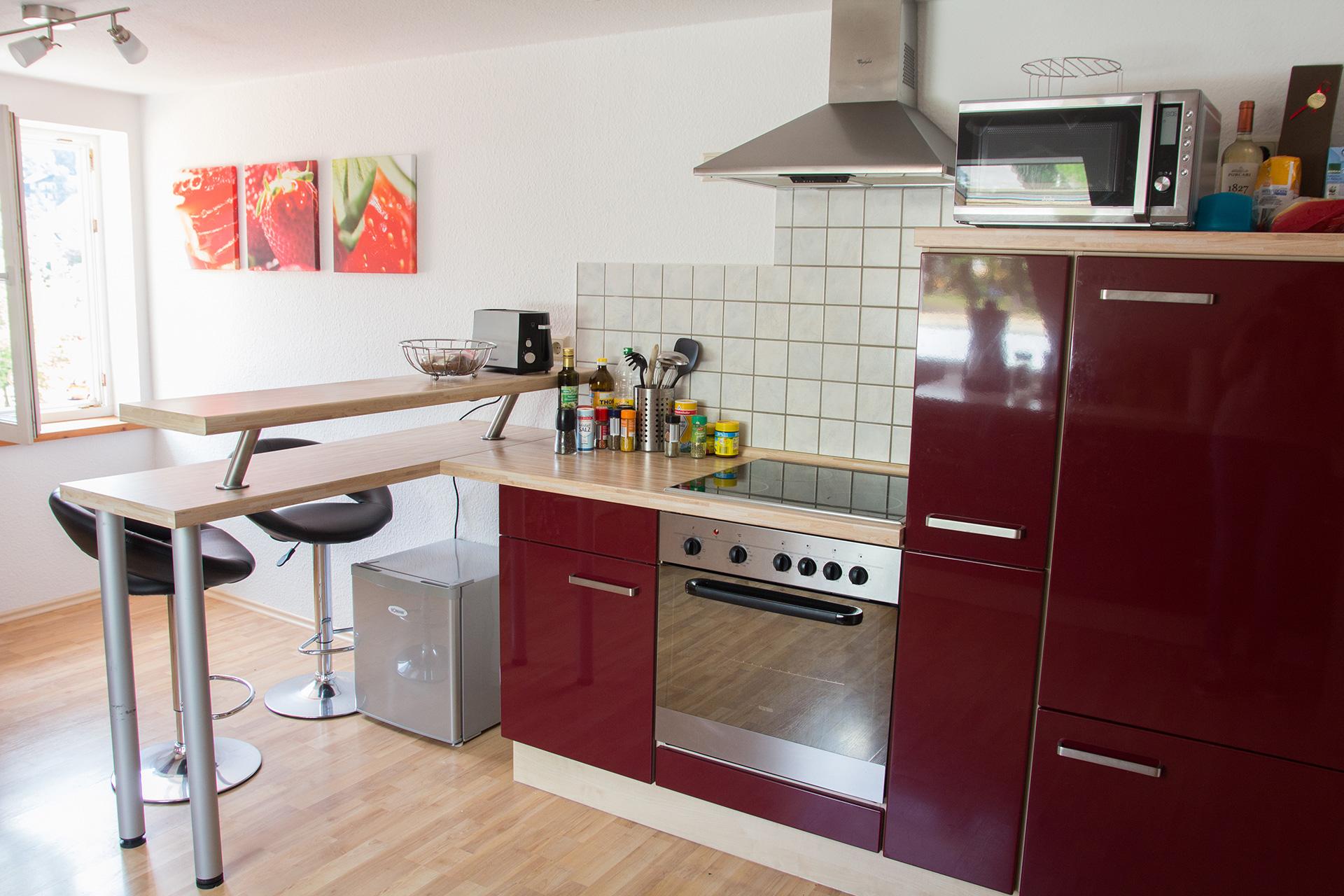 Ferienwohnung Schwalbennest - Küchenzeile