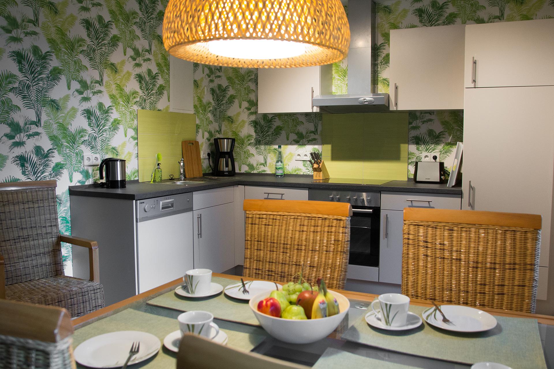 Ferienwohnung BaLie - Essbereich und Küchenzeile
