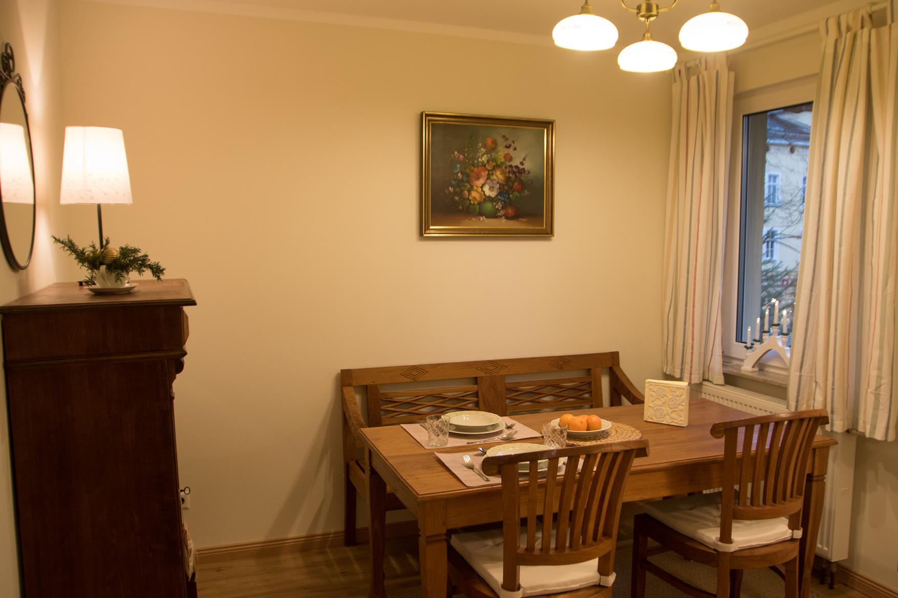 Apartment Postblick - Esszimmer